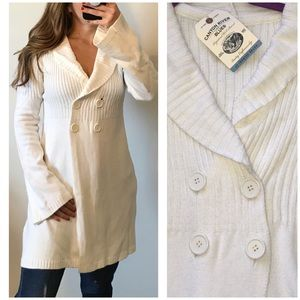VINTAGE CANYON RIVER BLUES Ivory Sweater Car Coat